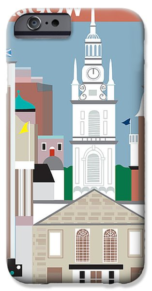 Glasgow iPhone Case by Karen Young