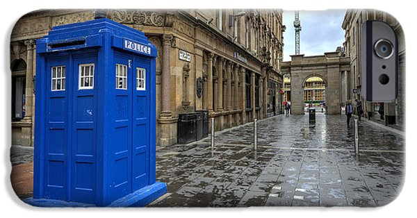 Police iPhone Cases - Glasgow Police Box  iPhone Case by Rob Hawkins
