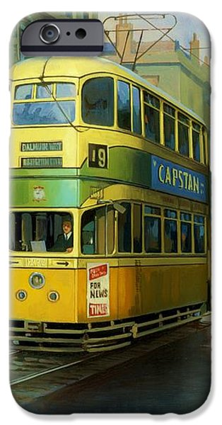 Glasgow tram. iPhone Case by Mike  Jeffries