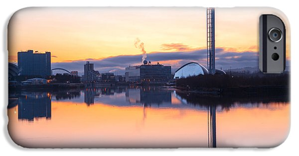 Venue iPhone Cases - Glasgow waterfront at Dawn Boxing day iPhone Case by John Farnan