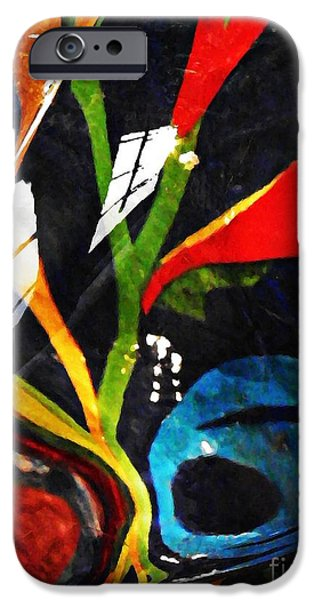 Glass Abstract 297 iPhone Case by Sarah Loft
