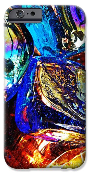 Business Photographs iPhone Cases - Glass Abstract 687 iPhone Case by Sarah Loft