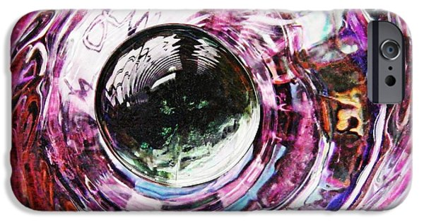 Business iPhone Cases - Glass Abstract 713 iPhone Case by Sarah Loft