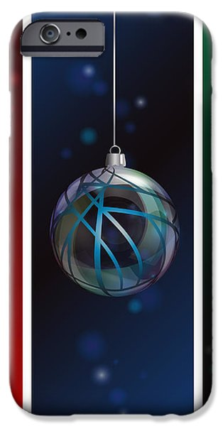Glass bauble banners iPhone Case by Jane Rix