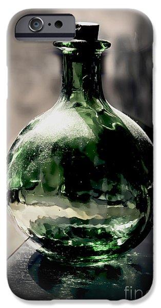 Glass bottle iPhone Case by Danuta Bennett