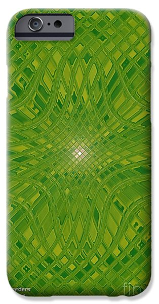 Modern Abstract Glass Art iPhone Cases - Glass Fantasia Catus 1 No 2 V iPhone Case by Gert J Rheeders
