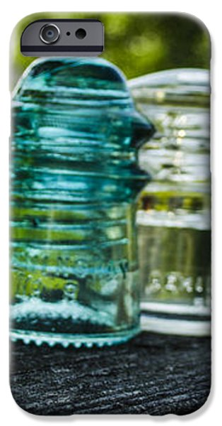 Glass Insulator Row iPhone Case by Deborah Smolinske
