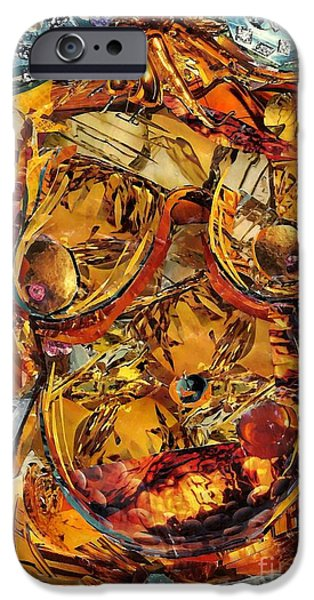 Sarah Loft iPhone Cases - Glass Lady iPhone Case by Sarah Loft