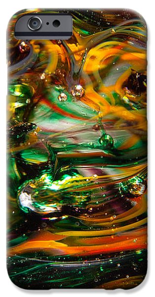 Abstract Digital Art iPhone Cases - Glass Macro Abstract EGO1 iPhone Case by David Patterson
