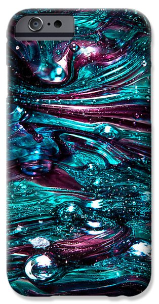 Glass Reflections iPhone Cases - Glass Macro Abstract RB3 iPhone Case by David Patterson