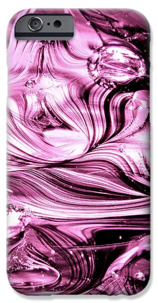 Glass Macro Abstract RBWCE1 iPhone Case by David Patterson