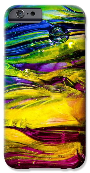 Glass Macro Abstract RCY1 iPhone Case by David Patterson