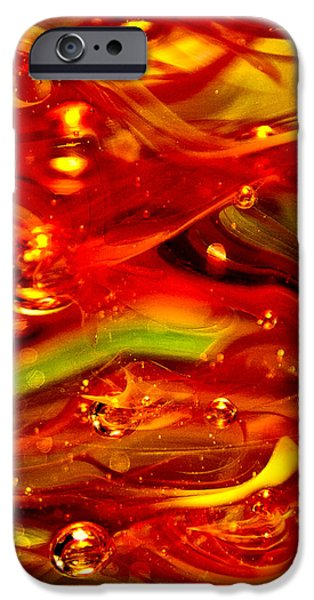Glass Macro Abstract RF1CE iPhone Case by David Patterson