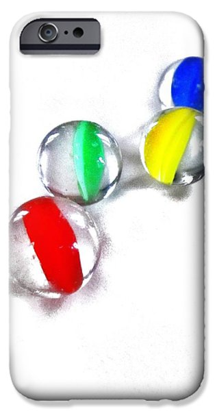 Glasses Photographs iPhone Cases - Glass Marbles iPhone Case by Marianna Mills