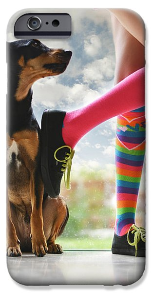 Puppy Iphone Case iPhone Cases - Glass Menagerie iPhone Case by Laura  Fasulo
