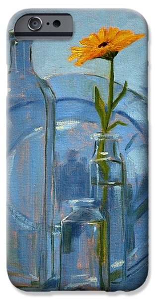 Business Paintings iPhone Cases - Glass iPhone Case by Nancy Merkle