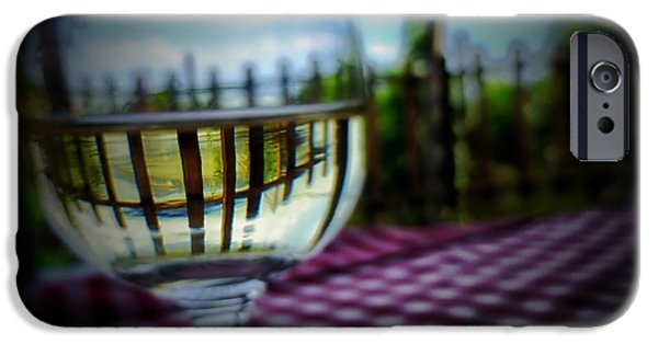 Table Wine iPhone Cases - Glass of White Wine iPhone Case by Mountain Dreams