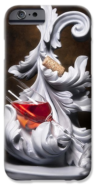 Stopper iPhone Cases - Glass of Wine with Cork Still Life iPhone Case by Tom Mc Nemar