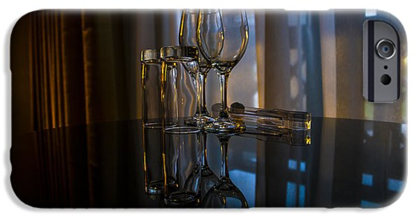 Glass Table Reflection iPhone Cases - Glass Reflection iPhone Case by Svetlana Sewell