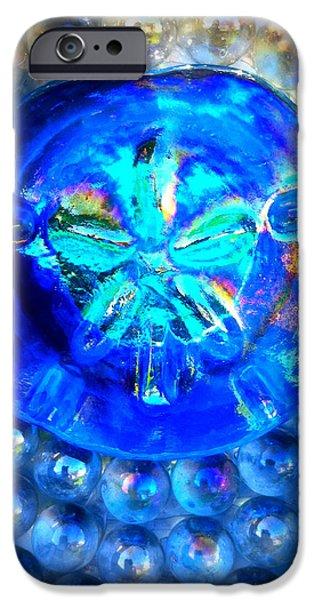 Sea Glass Art iPhone Cases - Glass Sand Dollar iPhone Case by Rebecca Tkaczyk
