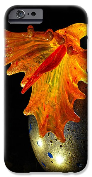 Glass Sculpture Orange Flowerbud iPhone Case by Amy Cicconi