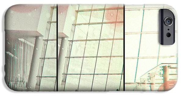 Glass Wall Digital iPhone Cases - Glass Wall iPhone Case by Susan Stone