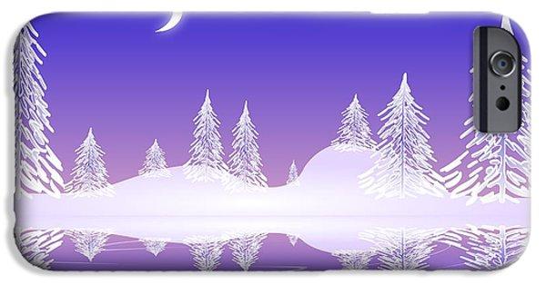 Snow iPhone Cases - Glass Winter iPhone Case by Anastasiya Malakhova