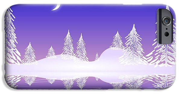 Moon iPhone Cases - Glass Winter iPhone Case by Anastasiya Malakhova