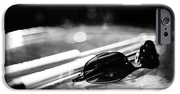 Lynda Dawson-youngclaus Photographer iPhone Cases - Glasses and Sticks BW iPhone Case by Lynda Dawson-Youngclaus