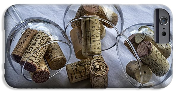 Table Wine iPhone Cases - Glasses of Corks iPhone Case by Nomad Art And  Design