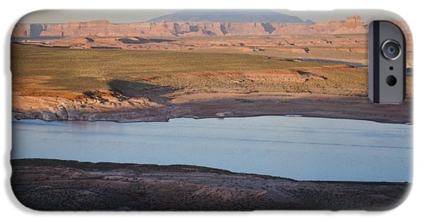 Glen Canyon iPhone Cases - Glen Canyon and Navajo Mountain iPhone Case by David Gordon