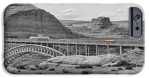 Glen Canyon iPhone Cases - Glen Canyon Bridge iPhone Case by Jack Schultz
