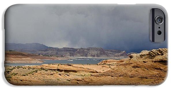 Glen Canyon iPhone Cases - Glen Canyon Page AZ iPhone Case by David Gordon