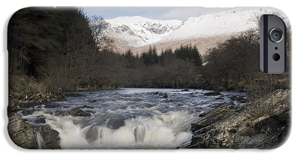 Highlands Digital iPhone Cases - Glen Orchy Scotland iPhone Case by Pat Speirs