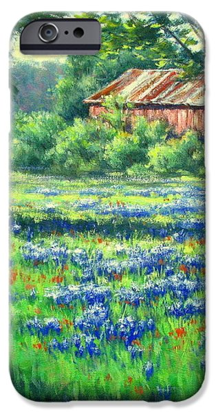Glen Rose Bluebonnets iPhone Case by Vickie Fears