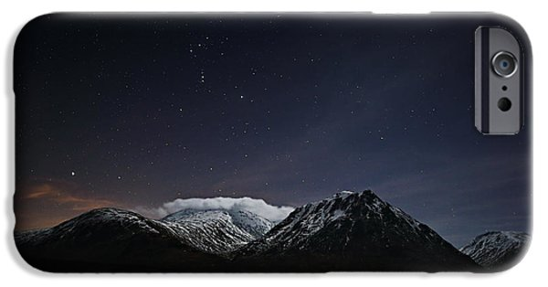 Constellations iPhone Cases - Glencoe Star-scape iPhone Case by Grant Glendinning