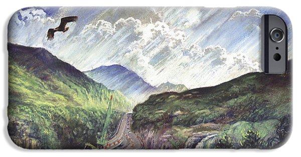 Mountain Road iPhone Cases - Glencoe iPhone Case by Steve Crisp