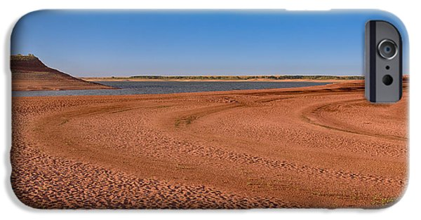 Mounds iPhone Cases - Glendo Lakebed iPhone Case by John Bailey