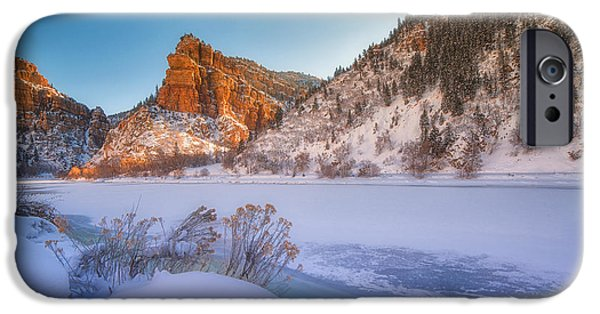 Landscape Acrylic Prints iPhone Cases - Glenwood Springs Morning iPhone Case by Darren  White
