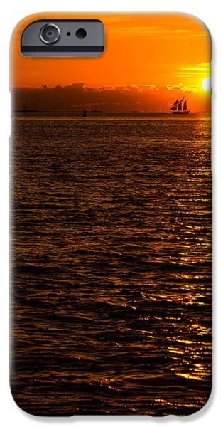 Sailboat Ocean iPhone Cases - Glimmer iPhone Case by Chad Dutson