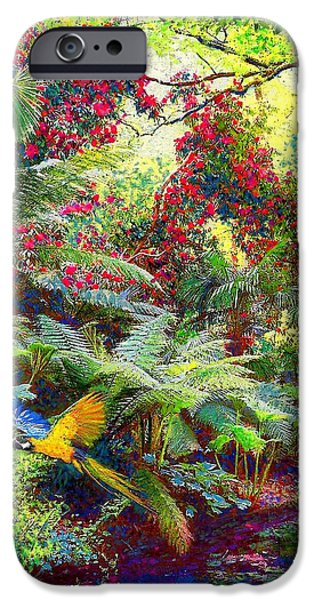 Flight Paintings iPhone Cases - Glimpse of Paradise iPhone Case by Jane Small
