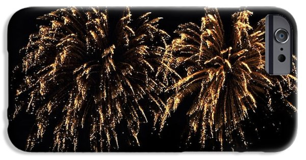 Fourth Of July iPhone Cases - Glittering iPhone Case by Tami Quigley