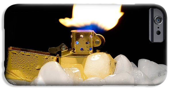 Combustion iPhone Cases - Global warming iPhone Case by Sinisa Botas