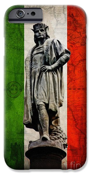 Christopher Columbus iPhone Cases - Globetrotter iPhone Case by Nishanth Gopinathan