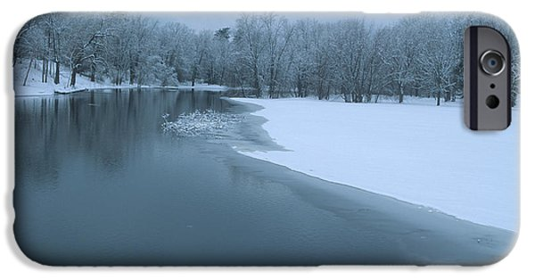 Concord. Winter iPhone Cases - Gloomy Winter Day iPhone Case by Bucko Productions Photography