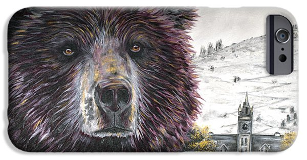 Of Power iPhone Cases - Glorious Griz iPhone Case by Teshia Art