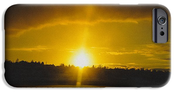 Color iPhone Cases - Glorious Sunset  iPhone Case by Gloria Pasko