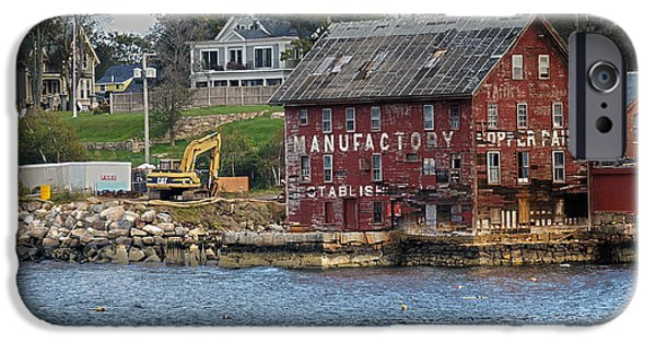 Marine iPhone Cases - Gloucester Harbor Paint Manufactory iPhone Case by Tom Gari Gallery-Three-Photography