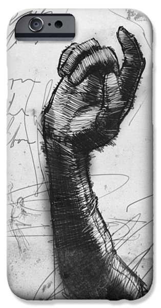 Opera Gloves iPhone Cases - Glove Study iPhone Case by H James Hoff