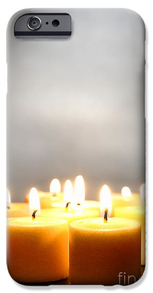 Ambiance iPhone Cases - Glow and Smoke iPhone Case by Olivier Le Queinec
